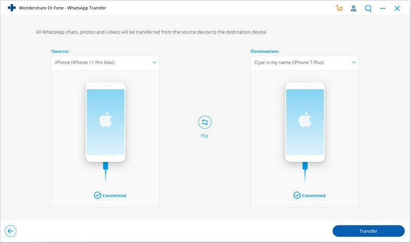 Wie man WhatsApp-Nachrichten von iPhone auf Android / iPhone überträgt