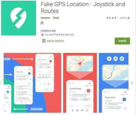 Fake any route you wish to with this app.
