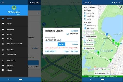 GPS Joystic to fake GPS location