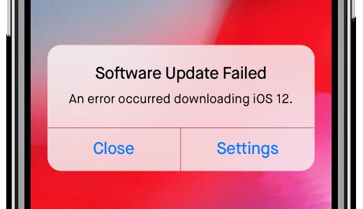 Problème avec iOS 12/iOS 13 beta - la mise à jour du logiciel échoue
