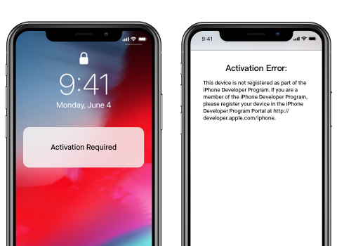 Problème avec iOS 12/iOS 13 beta - activation échouée