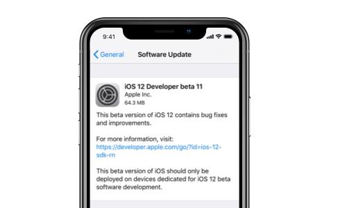Problème avec iOS 12 - la mise à jour n'apparaît pas