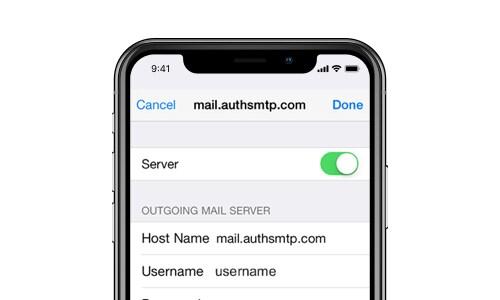 problèmes de courrier électronique de la mise à jour d'ios 12