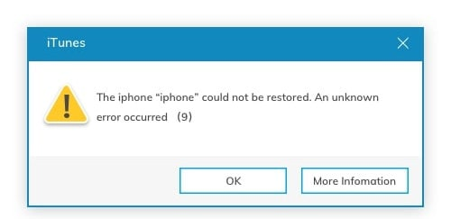 ios 14 error - idevice cannot restore