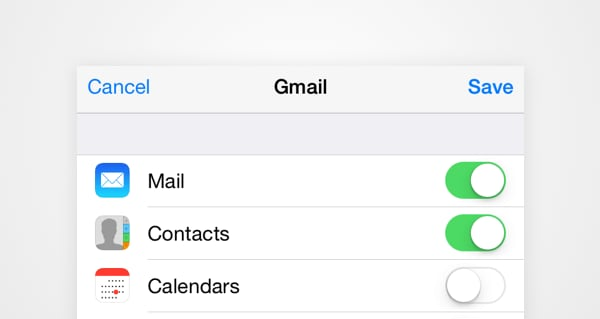 transfer contacts to iphone using gmail