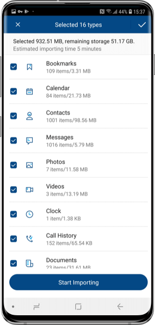 phone switch app supported files