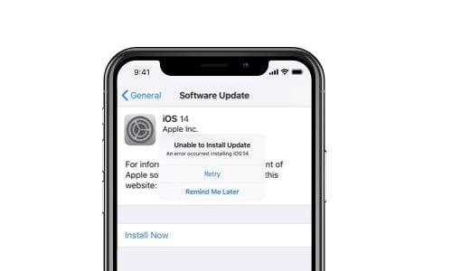 iOS 14 problem - error installing iOS 14