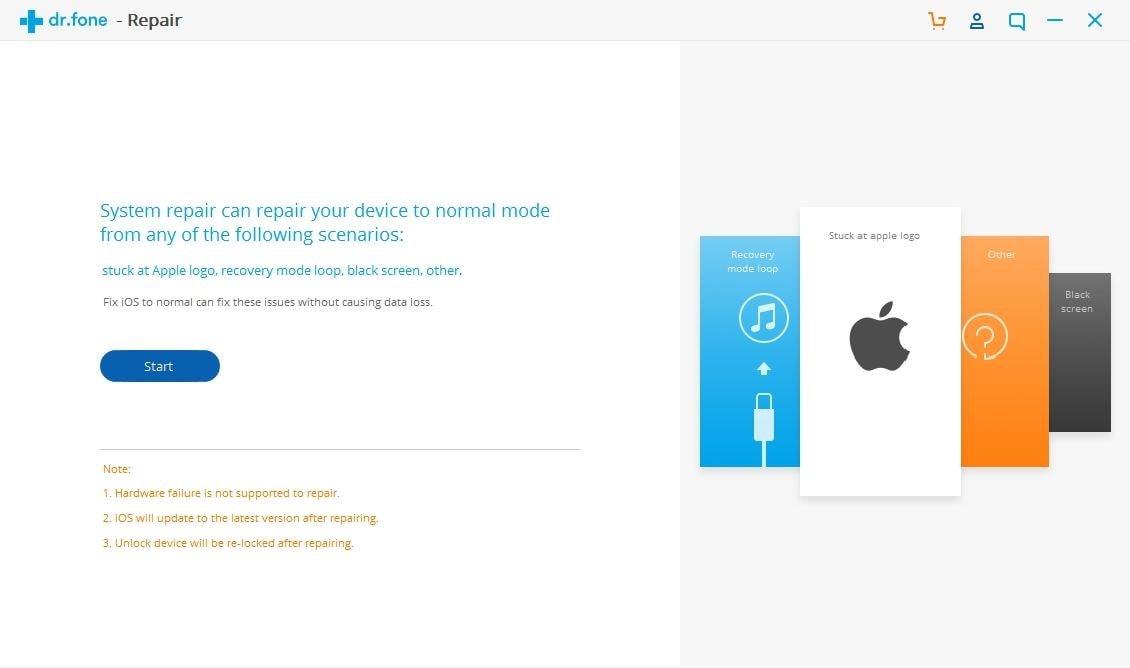 Dr.Fone iPhone-Wiederherstellungsmodus