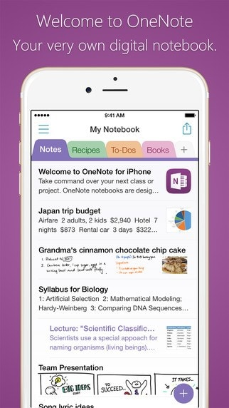 App Note per iPhone
