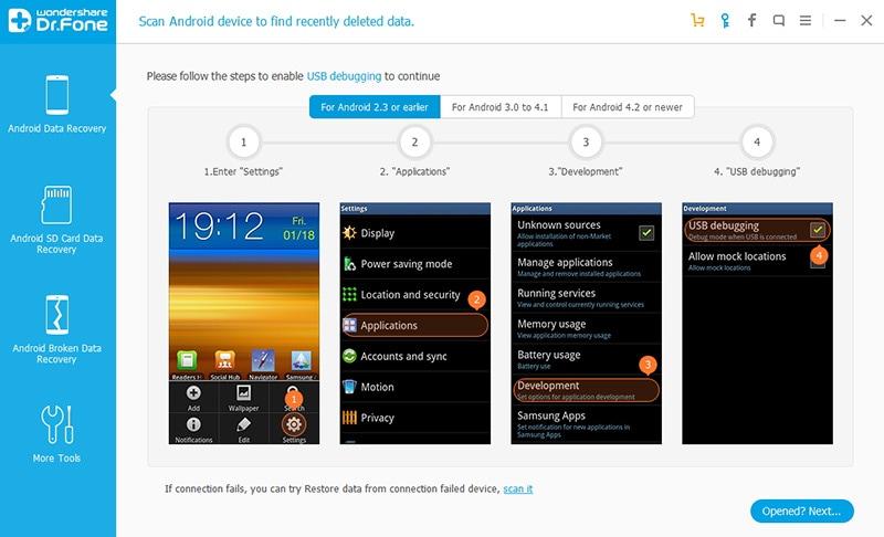 Recuperare le foto cancellate da Samsung Galaxy S7 / S6 / S5