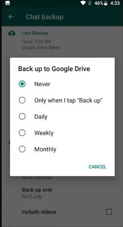 choose google drive