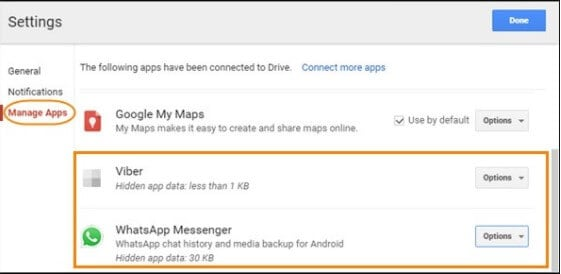 Delete old WhatsApp Backup from Google Drive