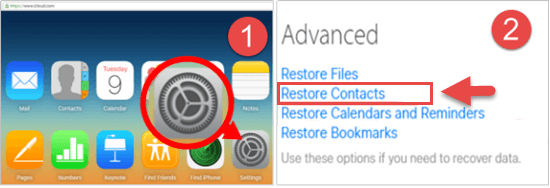go to the icloud setting