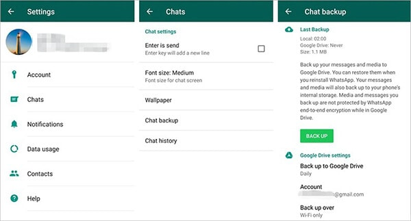 Deleted messages in the WhatsApp Android environment