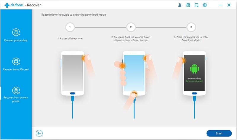 stel download mode in op gebroken android telefoon