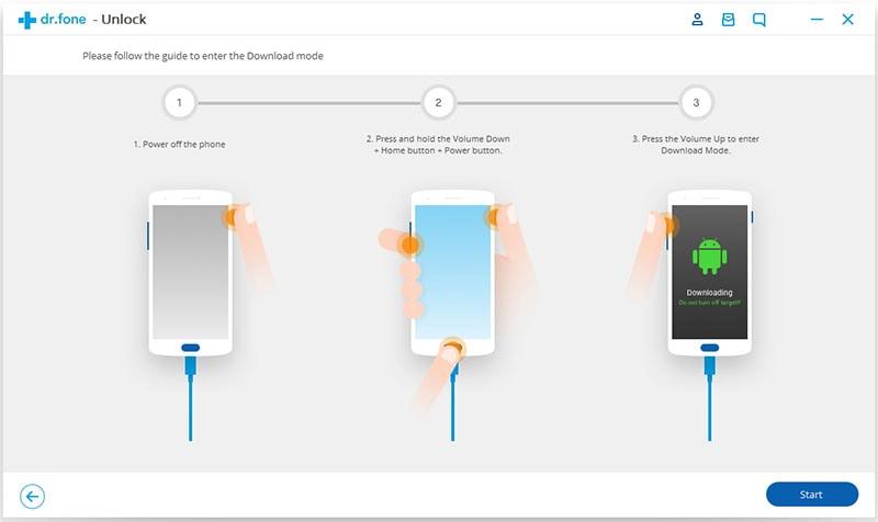start met verwijderen van android vergrendeld scherm