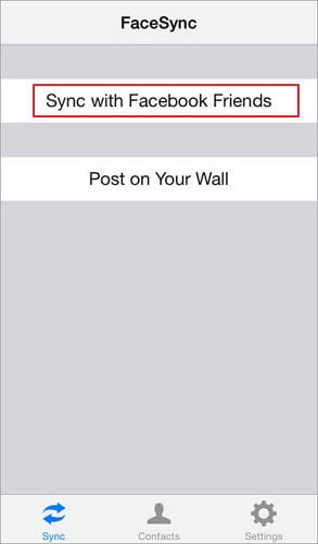 how to sync facebook contacts to iphone