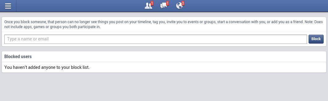 search hide block facebook messages