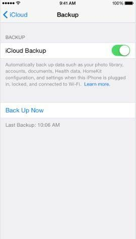 iCloud backup on iPhone and iPad