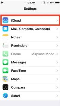 settings to delete delete iCloud account