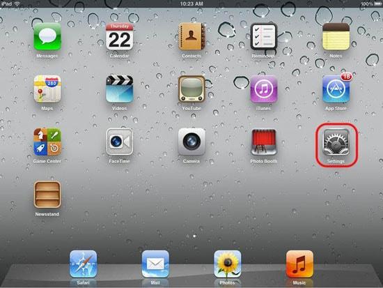 enable iCloud backup on iPad