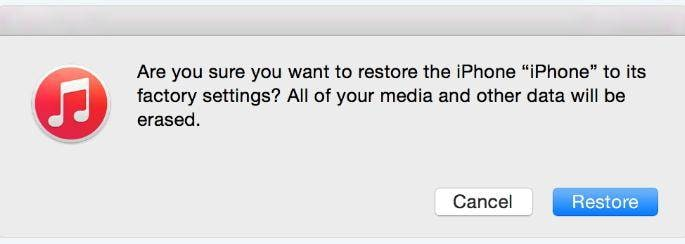 restore iTunes and iCloud backups finished