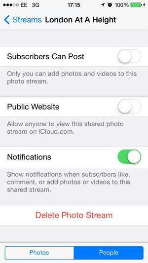 Delete pictures from shared stream 02