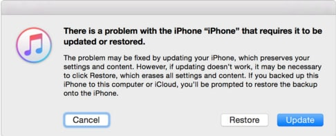 fix iPhone in Recovery Mode by iTunes