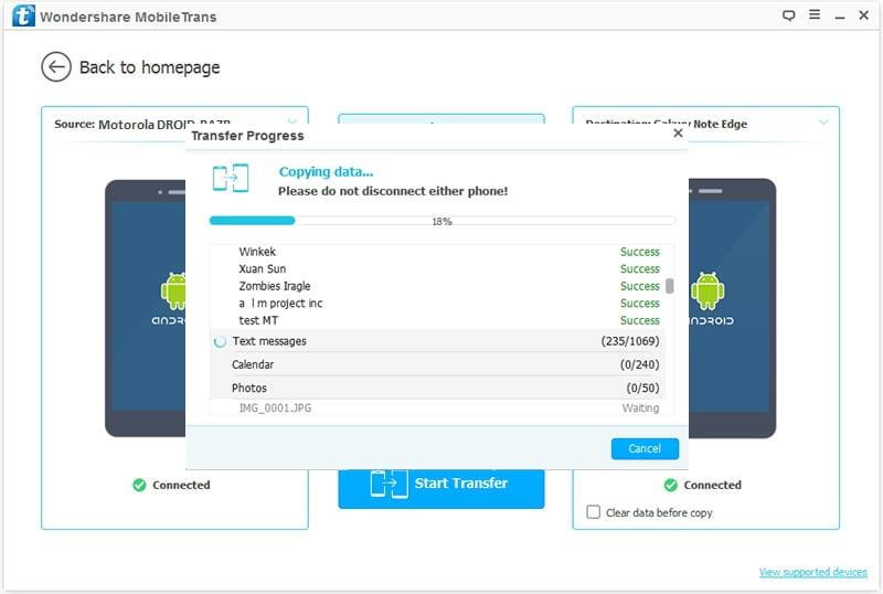 Transfer van Motorola naar Samsung