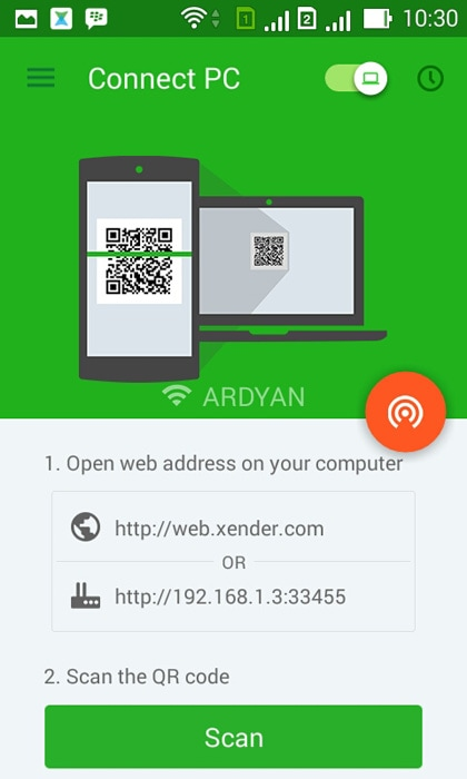 android file transfer apps-Xender