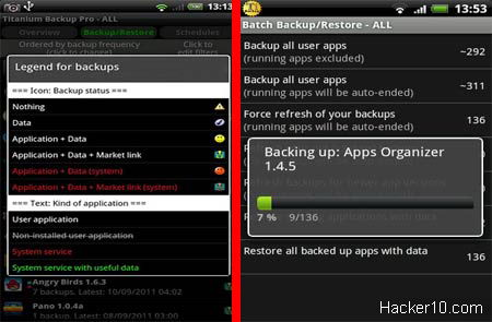 iphone contacts backup app - Titanium Backup & root
