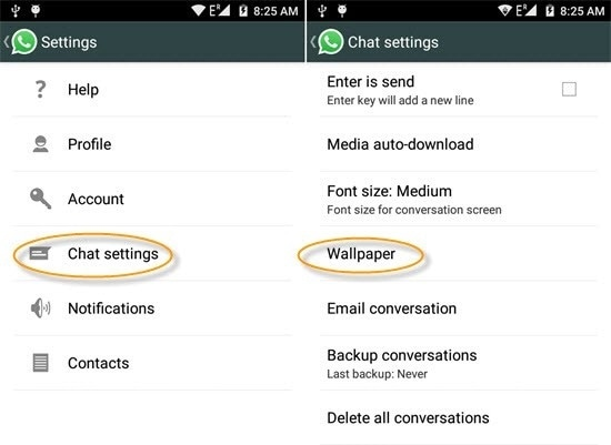 whatsapp tricks and tips-Change WhatsApp Theme