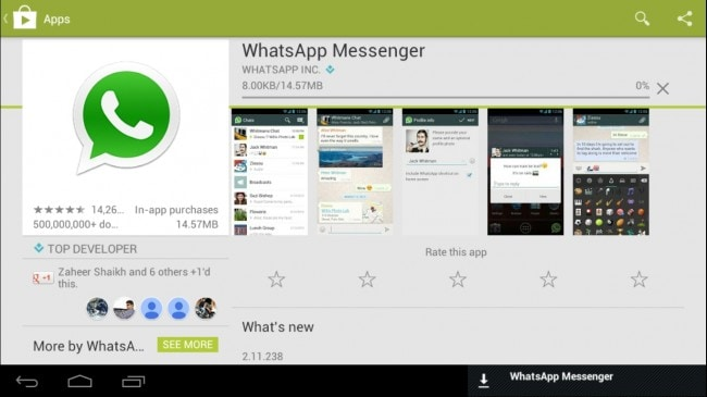 access and use WhatsApp for pc