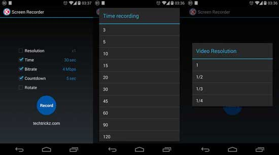 Screen Recorder voor Android KitKat: