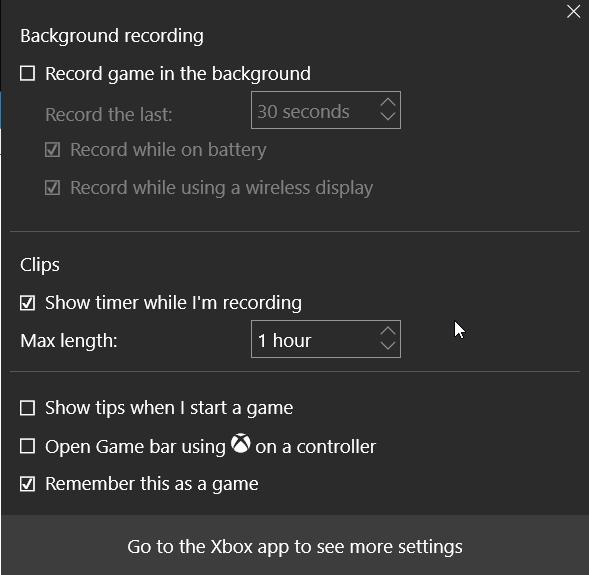 Screen Recorder in Windows 10