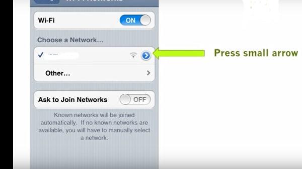 fix error code 1009 ipad-Select Wi-Fi