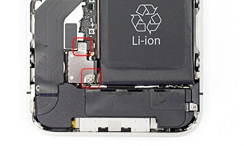 iphone error 29-Remove the Philips screw