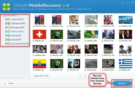 recover contacts on android-Jihosoft Android Phone Recovery