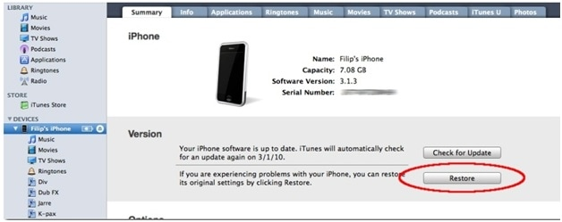 iphone disabled connect to itunes-restored the iPhone firmware