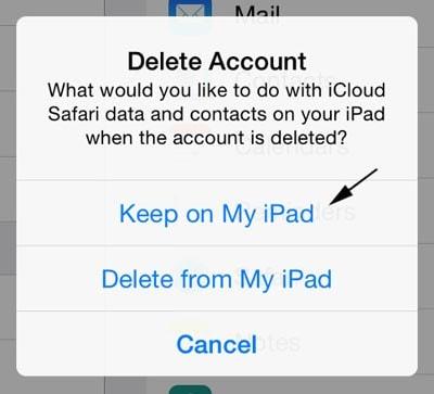 change icloud account-delete icloud account