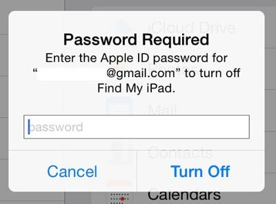 change icloud account-find my ipad iphone