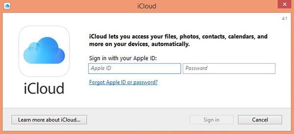 nicia sesión para cambiar el plan de iCloud