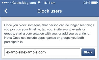 block people in facebook
