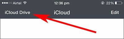 selecciona icloud para acceder los archivos desde icloud