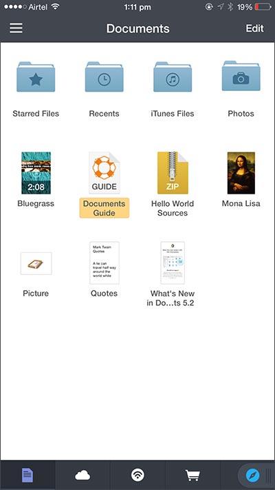 acceder los archivos de icloud por los aplicaciones