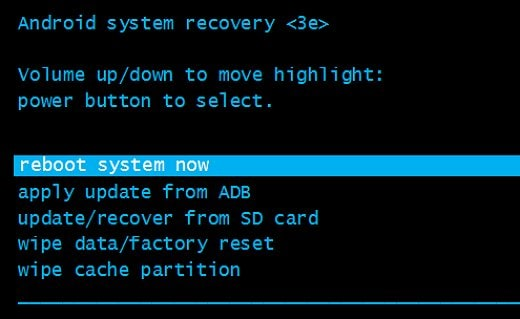 factory reset from recovery mode