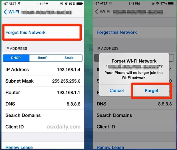 forget the network