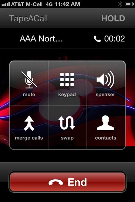 مسجل المكالمات آي فون