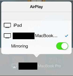 spiegel iphone naar mac met airplay