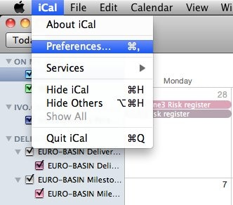 sync iCal with iphone - step 1 for System preferences in iCal